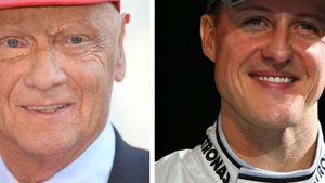 Michael Schumacher und Niki Lauda