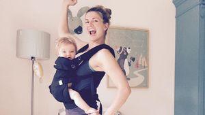 Nina Bott mit Tochter Luna beim Sport