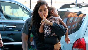 Kim Kardashian mit Tochter North West in NYC