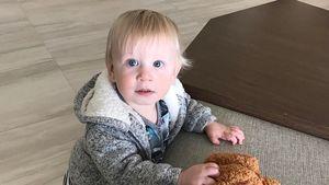 Süße Knuddelbacke: Welchem Boyband-Star gehört dieser Fratz?