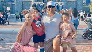Oksana Kolenitchenko genoss Tag im Disneyland mit Familie