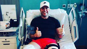 Blutige Bilder! Olly Murs zeigt sich nach seiner Knie-OP