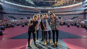 One Direction mit Zayn bei einem Konzert