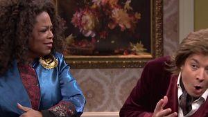 Aua! Jimmy Fallon kassiert Backpfeifen von Oprah!