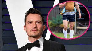Spaziergang mit Daisy: Orlando Bloom zeigt seine Beinmuskeln