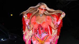 Heiß statt Horror: Paris Hilton als roter Halloween-Engel
