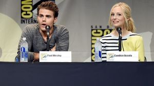 Paul Wesley und Candice Accola auf der Comic-Con International 2015