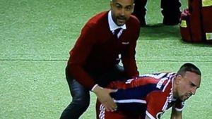 Pep Guardiola und Franck Ribéry