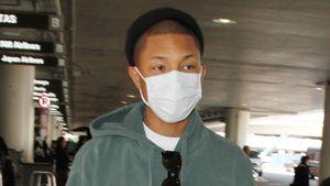 Style oder Schutz? Drillingsvater Pharrell trägt Maske