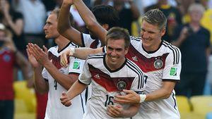 Philipp Lahm und Bastian Schweinsteiger bei der WM 2014