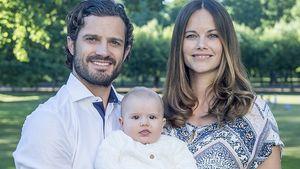 Prinz Carl Philip und Prinzessin Sofia von Schweden mit ihrem Sohn Prinz Alexander