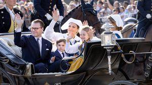 Krawatte und Anzug: Prinz Oscar verzückt am Nationalfeiertag