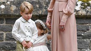 Prinz George, Prinzessin Charlotte und Herzogin Kate bei der Middleton-Hochzeit in Englefield