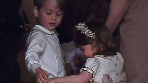 Prinz George und Prinzessin Charlotte bei Pippas Hochzeit