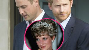 Prinz William und Prinz Harry mit ihrer Mutter Prinzessin Diana
