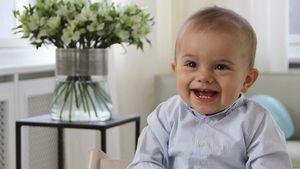 Prinz Oscar an seinem ersten Geburtstag