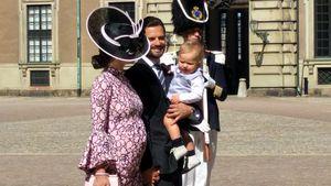 Prinzessin Sofia, Prinz Carl Philip und Prinz Alexander an Prinzessin Victorias Geburtstag