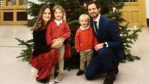 So lässig wünschen Sofia, Carl Philip und Kids frohes Fest