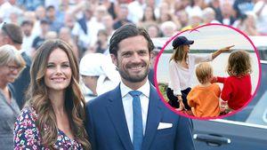 Kurze Hose und Cap: So lässig urlauben die Schweden-Royals