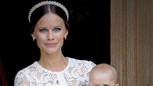 Prinzessin Sofia und Sohn Prinz Alexander bei der Taufe von Prinz Alexander