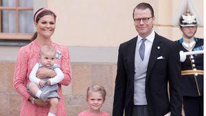 Prinzessin Victoria und Prinz Daniel mit ihren Kindern Prinz Oscar und Prinzessin Estelle
