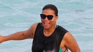 Alternativ-Beach-Babe: Queen Latifah verhüllt sich