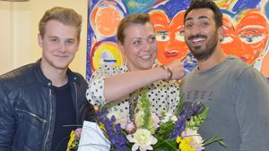 Ramona Dempsey, Felix van Deventer und Mustafa Alin