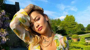 Sexy! Hier blitzt Rita Oras knallrote Reizwäsche durch