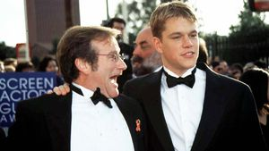 Robin Williams (l.) und Matt Damon