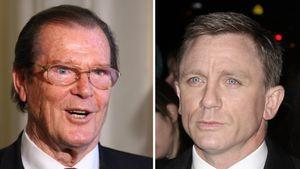 Daniel Craig und Roger Moore