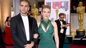 Romain Dauriac und Scarlett Johansson bei den Oscars 2015