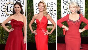 Golden Globe-Hingucker: Roter Teppich, rote Roben!