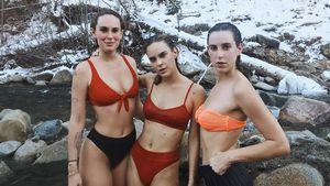Frostig-scharfe Aussichten! Bruce Willis' Töchter im Eisbach