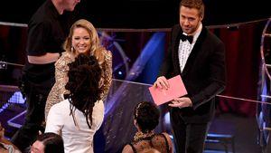 Ryan Gosling mit seiner Schwester Mandi bei der Oscar-Verleihung 2017