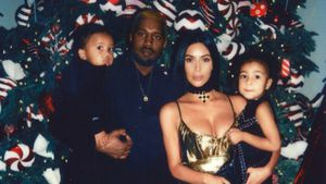 Saint West, Kanye West, Kim Kardashian und North West
