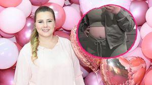 Deutliche Wölbung: Sarafina Wollny zeigt ihren Babybauch