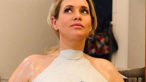 Süß: Sarah Knappik macht Gipsabdruck von ihrem XXL-Babybauch