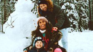 Winterspaß: Sarah Lombardi tobt mit ihrer Familie im Schnee