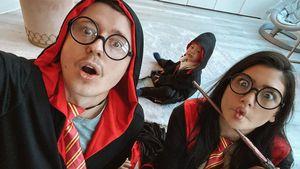 Familie Potter: Paola Maria feiert hochschwanger Halloween