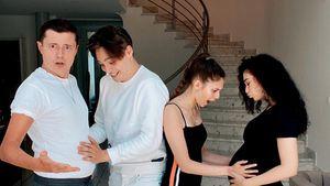 Paola Maria amüsiert: Sascha hat auch einen Babybauch