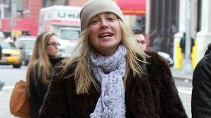 Ungeschminkt mit Wuschel-Haar: Sharon Stone privat