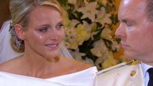Fürstin Charlène weinte Tränen des Glücks