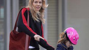 Wirbelwind: Sienna Millers Tochter (5) ist ein Scooter-Girl