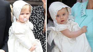 Süß! Michelle Hunzikers Töchter trugen das gleiche Taufkleid
