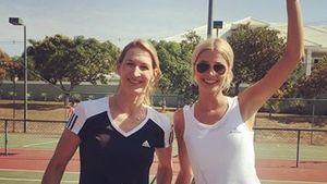 Power-Blondinen-Doppel: Lena Gercke lernt von Steffi Graf