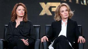 Susan Sarandon und Jessica Lange bei einer Pressekonferenz in Pasadena
