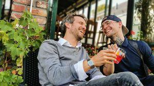 Thaddäus Meilinger und Eric Stehfest witzeln über GZSZ-Fehde