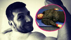 Lustiger Throwback: TBL-Saki schlief auch im Fitnessstudio