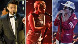 The Weeknd, Lady GaGa und Bruno Mars