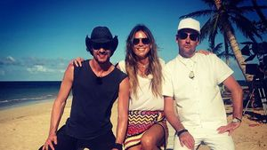 1. Bilder vom GNTM-Set: Heidi Klum shootet in der Karibik!